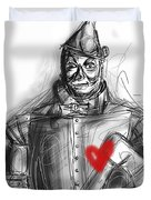 The Tin Man Duvet Cover by Russell Pierce