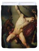 The Torture of Prometheus Duvet Cover by Jean-Louis-Cesar Lair