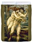 The Tree Of Forgiveness Duvet Cover by Sir Edward Burne-Jones
