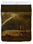 The Triumph At Calvary Duvet Cover by George Inness