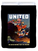 The United Nations Fight For Freedom Duvet Cover by War Is Hell Store