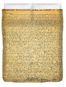 The United States Declaration of Independence Duvet Cover by Wingsdomain Art and Photography