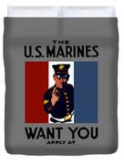The U.s. Marines Want You  Duvet Cover by War Is Hell Store