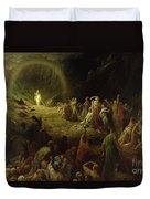 The Valley Of Tears Duvet Cover by Gustave Dore