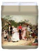 The Village Wedding Duvet Cover by Sir Samuel Luke Fildes