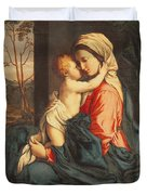 The Virgin and Child Embracing Duvet Cover by Giovanni Battista Salvi