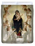 The Virgin With Angels Duvet Cover by William-Adolphe Bouguereau