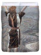 The Voice in the Desert Duvet Cover by Tissot