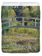 The Waterlily Pond With The Japanese Bridge Duvet Cover by Claude Monet