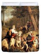 The Wedding Trek Duvet Cover by Adolphe Tidemand