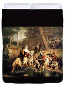 The Wedding Trek Duvet Cover by Adolphe Tidemand