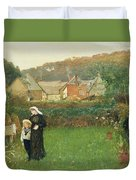The Widow Duvet Cover by Charles Napier Hemy