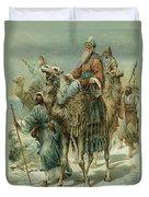 The Wise Men Seeking Jesus Duvet Cover by Ambrose Dudley