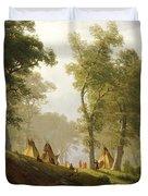 The Wolf River - Kansas Duvet Cover by Albert Bierstadt