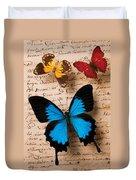 Three Butterflies Duvet Cover by Garry Gay