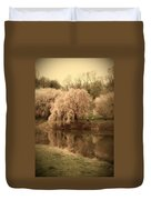 Through The Years - Holmdel Park Duvet Cover by Angie Tirado