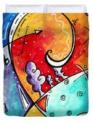 Tickle My Fancy Original Whimsical Painting Duvet Cover by Megan Duncanson