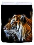 Tiger Fractal Duvet Cover by Shane Bechler