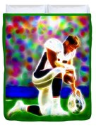 Tim Tebow Magical Tebowing 2 Duvet Cover by Paul Van Scott