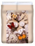 Time Flies Duvet Cover by Garry Gay