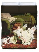 Time To Play Duvet Cover by Charles Burton Barber