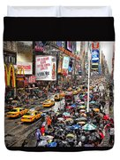 Times Square 1 Duvet Cover by Andrew Fare