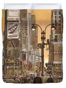 times square Duvet Cover by Guido Borelli