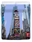 Times Square Nyc Duvet Cover by Kelley King