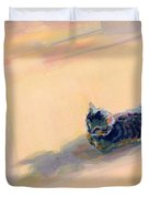 Tiny Kitten Big Dreams Duvet Cover by Kimberly Santini