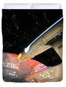 To Boldly Go Duvet Cover by Kristin Elmquist
