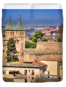Toledo Town View Duvet Cover by Joan Carroll