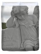 Tombstone Angel for an Angel Duvet Cover by Christine Till