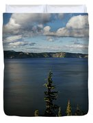 Top wow spot - Crater Lake in Crater Lake National Park Oregon Duvet Cover by Christine Till