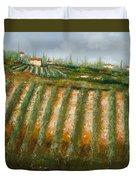 Tra I Filari Nella Vigna Duvet Cover by Guido Borelli