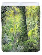 Tree In Garden Duvet Cover by Fay Biegun - Printscapes