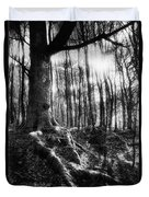 Trees At The Entrance To The Valley Of No Return Duvet Cover by Simon Marsden
