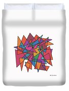 Triangles In Motion Duvet Cover by ME Kozdron
