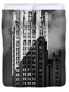 Tribune Tower 435 North Michigan Avenue Chicago Duvet Cover by Christine Till