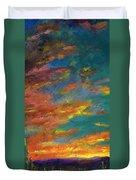 Triptych 1 Desert Sunset Duvet Cover by Frances Marino