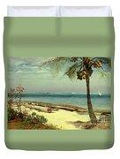 Tropical Coast Duvet Cover by Albert Bierstadt