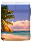 Tropical Island 6 - Painterly Duvet Cover by Wingsdomain Art and Photography