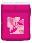 Tropical Pink Duvet Cover by Michael Skinner