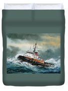 Tugboat Hunter Crowley Duvet Cover by James Williamson