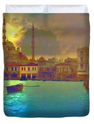Turkish  Moonlight Duvet Cover by Saiyyidah Seema  Z