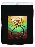 Twisting Love II Original Painting By Madart Duvet Cover by Megan Duncanson