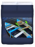 Two Boats Duvet Cover by Carlos Caetano