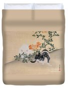 Two Cats Duvet Cover by Japanese School