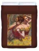 Two Dancers Duvet Cover by Edgar Degas