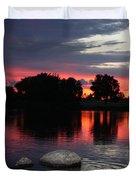 Two Rocks Sunset in Prosser Duvet Cover by Carol Groenen
