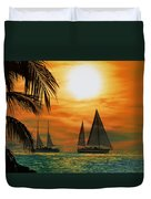 Two Ships Passing In The Night Duvet Cover by Bill Cannon
